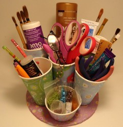 Upcycled Craft Tool Caddy