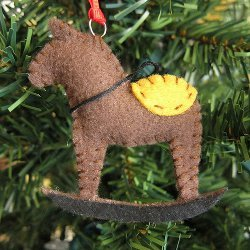 Felt Rocking Horse Ornament