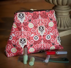 Compact Zippered Cosmetic Bag