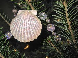Sparkly Seashell Ornament