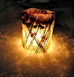 Gorgeous Glowing Natural Ice Lantern