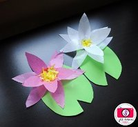 Tissue Paper Water Lilies