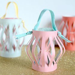 Paper Hourglass Ornaments