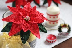 Gorgeous Fabric Poinsettia