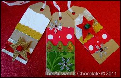 Recycled Holiday Card Tags