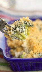 Broccoli Bleu Cheese Bake