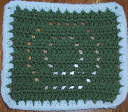 Evergreen Wreath Square