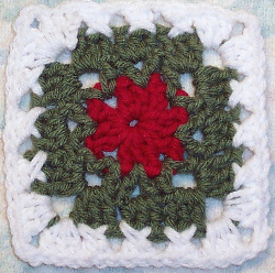 Holiday Wreath Square Allfreecrochetafghanpatterns Com