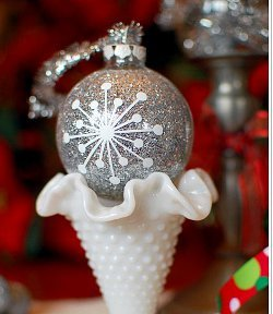 Handmade Glitter Ball Ornament