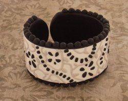 Black and Beige Cuff