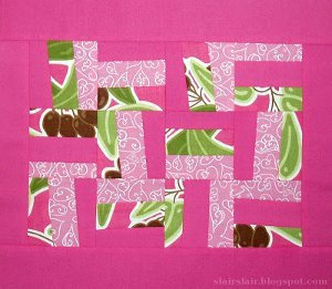 Crooked Rail Fence Quilt Block