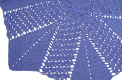Shell and V-stitch Round Ripple Blanket