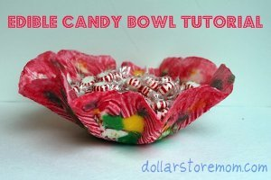 Edible Christmas Candy Bowl