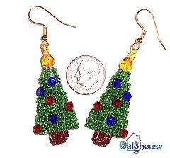 Twinkling Christmas Tree Earrings