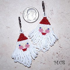 Santa Claus Seed Bead Earrings