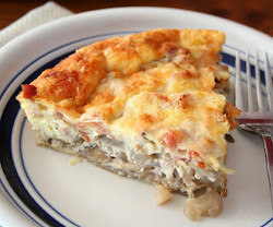 Bacon, Gruyere, and Endive Quiche