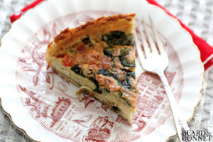 Spinach and Pepper Quiche