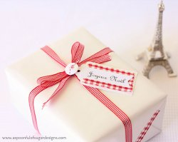 Chic French Inspired Gift Tags and Tape