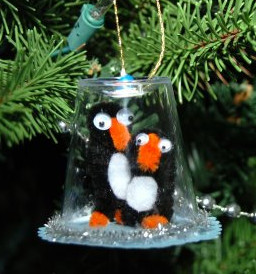 Playful Penguin Snow Globe Ornaments