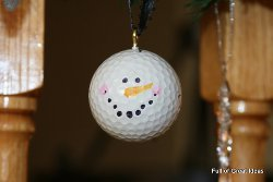 Golf Ball Snowman Christmas Ornament Craft