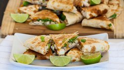 Just-Like Chili's Cheesy Chicken, Bacon and Avocado Quesadillas