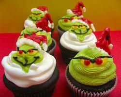 Grumpy Grinch Cupcakes