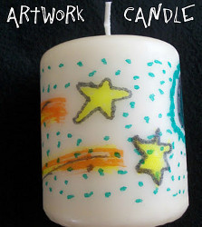 Transferred Art Decorative Candle