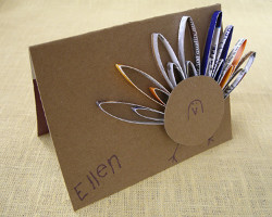 Junk Mail Turkey Place Cards