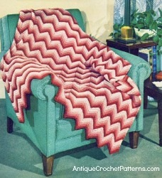 Peppermint Chevron Afghan