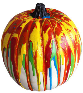 Totally Tie-Dye Pumpkin