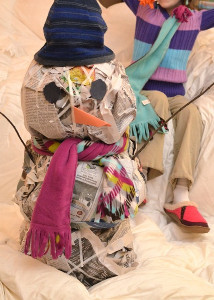 Nifty Newspaper Snowman