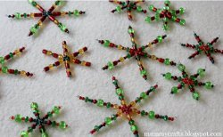 Beaded Wire Star Ornaments