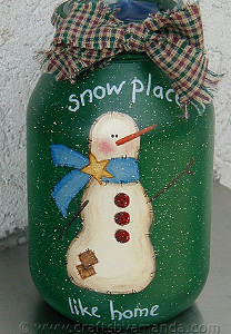 There's Snow Place Like Home Jar