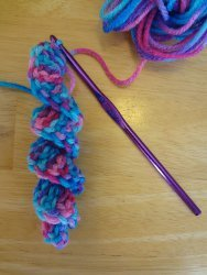 Crocheted Curlicue