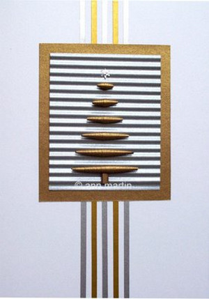 Silver and Gold Xmas Tree Card