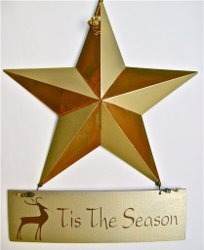 Golden Star Door Decoration