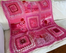 Think Pink Lapghan Allfreecrochetafghanpatterns Com