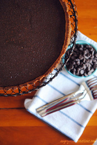 Chocolate Tart with Quinoa Almond Crust