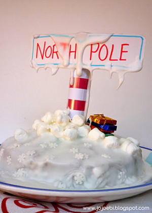 North Pole Winter Cake