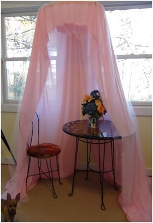 How To Make A Quick, No Sew, Easy Canopy For Your Princess