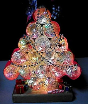 Recycled Jar Christmas Tree
