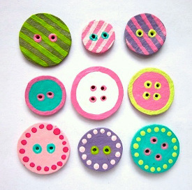Charming Egg Carton Buttons