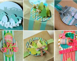 Punched Paper Gift Toppers