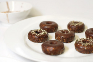 Almond Spiced Donuts with Chocolate and Coconut ...