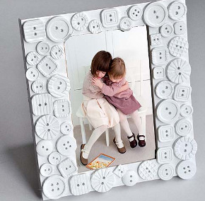 Dazzling White Button Frame