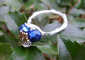 Silent Night Wire Wrapped Ring