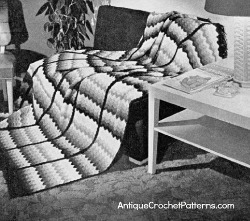 Sea Shell Afghan from the 1940s