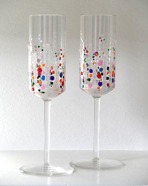 Confetti Champagne Glasses