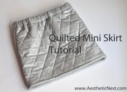 Silver Quilted Mini Skirt