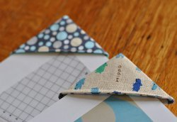 Fabric Corner Bookmarks